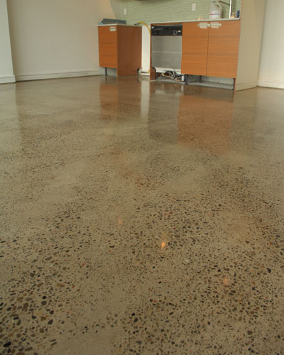 Concrete Polishing Of Loft Floor With Varied Aggregate Exposure · Polished  Concrete At Downtown Toronto Loft ...