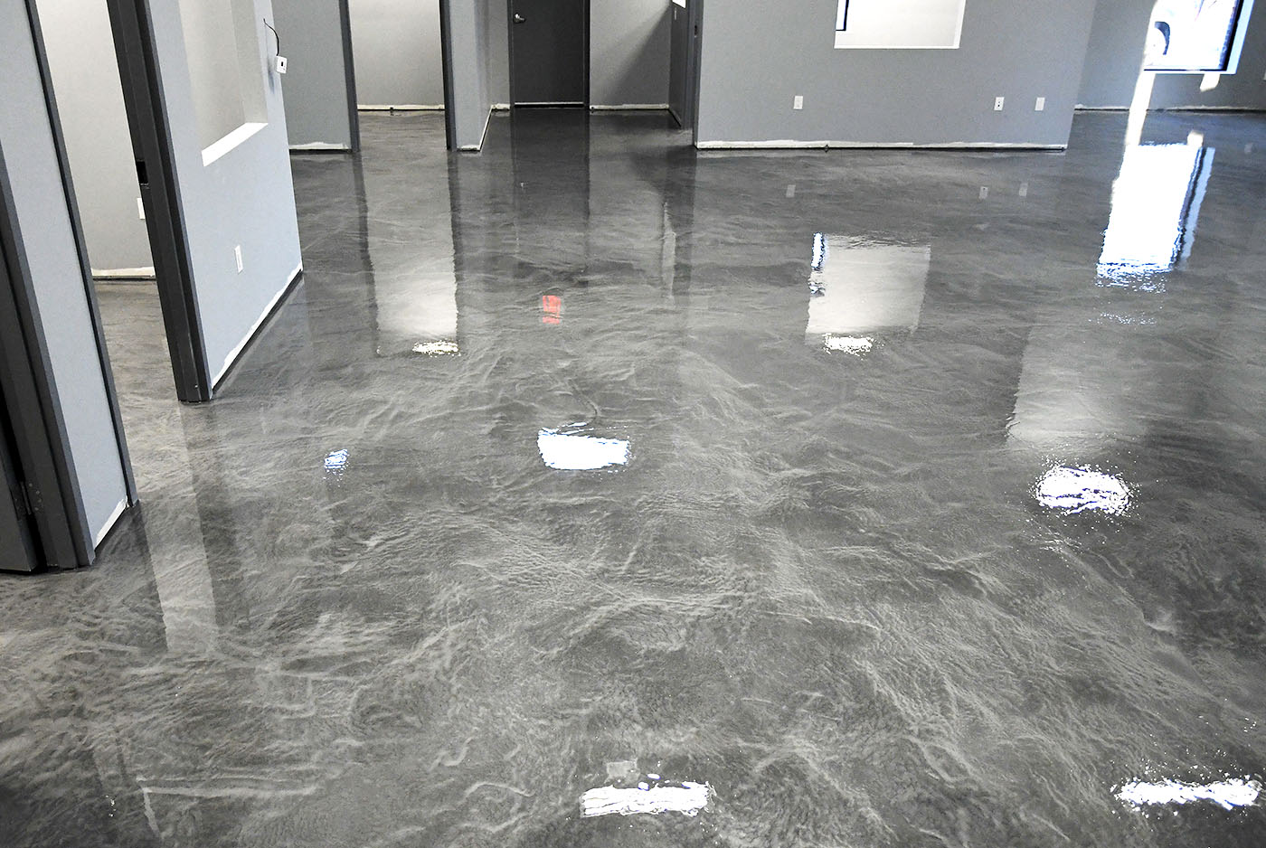 Charcoal Metallic Epoxy Floors Ttm Finishes Inc